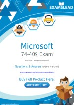 74-409 Exam Dumps - Get Valid 74-409 PDF Questions Answers