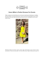 Karen Millen's Perfect Dresses For Events