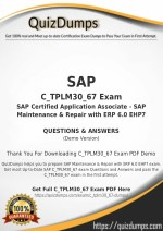 C_TPLM30_67 Exam Dumps - Preparation with C_TPLM30_67 Dumps PDF [2018]