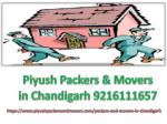 Movers packers Services In Chandigarh