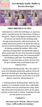 First Birthday Outfit | Ruffles & Bowties Bowtique