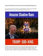 Amazon Shadow Bans Controversial Trump Book by George Washington Heir