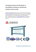 Top Aluminium Extrusion Profile Supplier in China-XINGFA concentrate on manufacturing excellence aluminum profile