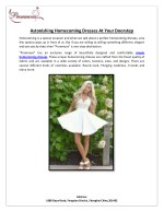 Astonishing Homecoming Dresses At Your Doorstep