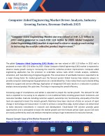 Computer Aided Engineering Market Driver Analysis, Industry Growing Factors, Revenue Outlook 2025