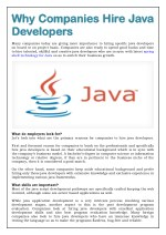 Why Companies Hire Java Developers