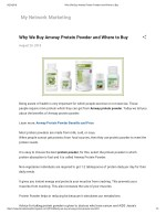 Why We Buy Amway Protein Powder and Where to Buy