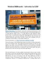 Modern Billboards - Advertise in LED