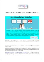 WHAT IS THE MAIN CAUSE OF CHLAMYDIA?