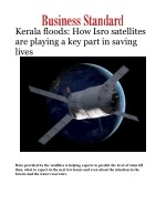Kerala floods: How Isro satellites are playing a key part in saving lives