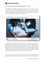 Information Technology Specialist in USA