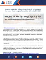 Aramid Fiber Market Overview, Growth, Demand And Forecast Research Report To 2025
