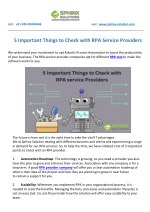 5 Important Things to Check with RPA Service Providers