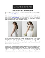 Charlie Brear, Bridal Collection in the UK