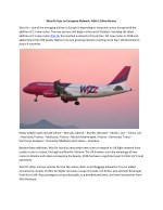 Wizz Air Eyes on European Network; Adds 11 New Routes