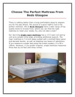 Choose The Perfect Mattress From Beds Glasgow