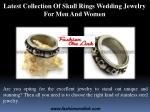 Latest Collection Of Skull Rings Wedding Jewelry For Men And Women