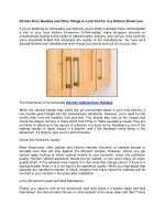 Kitchen Door Handles and Other Things to Look Out For in a Kitchen Showroom