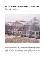 Let the Greenhouse Technology Upgrade Your Farming Practices
