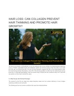 HAIR LOSS: CAN COLLAGEN PREVENT HAIR THINNING AND PROMOTE HAIR GROWTH?