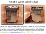Reliable Wood Sauna Stoves