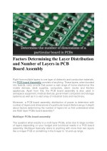 Factors Determining the Layer Distribution and Number of Layers in PCB Board Assembly