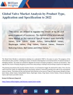 Global Valve Market Analysis by Product Type, Application and Specification to 2022