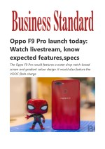Oppo F9 Pro launch today