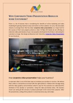 Why Corporate Video Presentation Brings in more Customers?