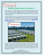 Best Event Rental Services in Columbia SC