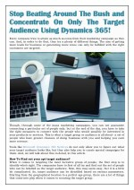 Target Audience Using Dynamics 365