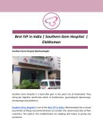 Best IVF in India | Southern Gem Hospital | ElaWoman