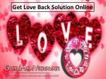 Love Back Solution Online