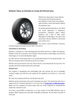 Michelin Takes an Initiative to Create 3D Printed Tyres
