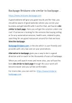 Backpage Brisbane site similar to backpage ..