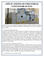Applications of Industrial Conveyor Ovens