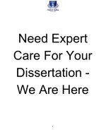 Need Expert Care For Your Dissertation - We Are Here