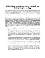 Video Train Your Employees through an Online Employee App