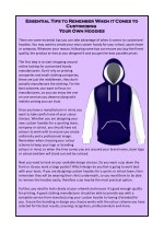 Essential Tips to Remember When it Comes to Customising Your Own Hoodies