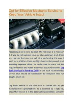 Opt for Effective Mechanic Service to Keep Your Vehicle Intact