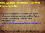 New Website Promotion 2018