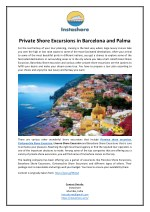 Private Shore Excursions in Barcelona and Palma