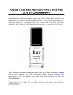 Create a Gel-Like Manicure with 9-Free Nail Care by LONDONTOWN