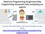 Complete programming homework with help of expert