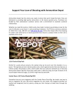 Support Your Love of Shooting with Ammunition Depot