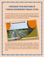Purchase Your New Home In Yamuna Expressway Smart Cities