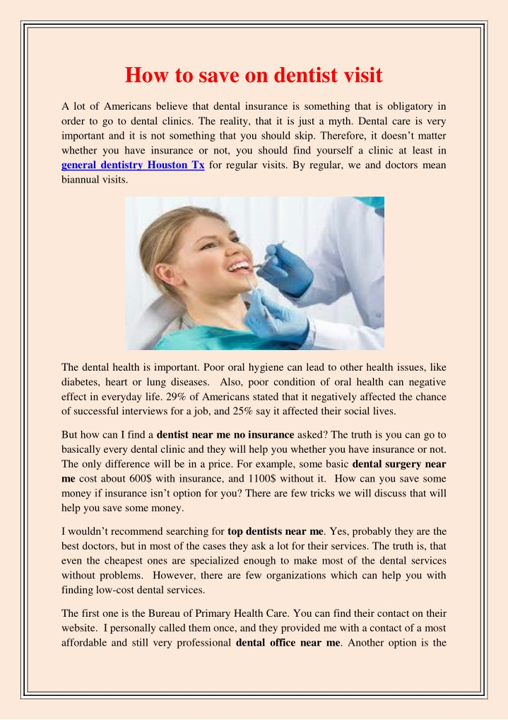 PPT - How to save on dentist visit PowerPoint Presentation