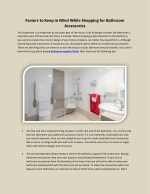 Factors to Keep in Mind While Shopping for Bathroom Accessories