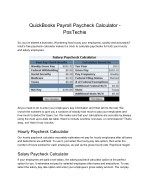 Intuit QuickBooks Payroll Paycheck Calculator - PosTechie for QuickBooks