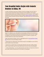 Your Beautiful Smiles Begins with Cosmetic Dentistry in Edina, MN